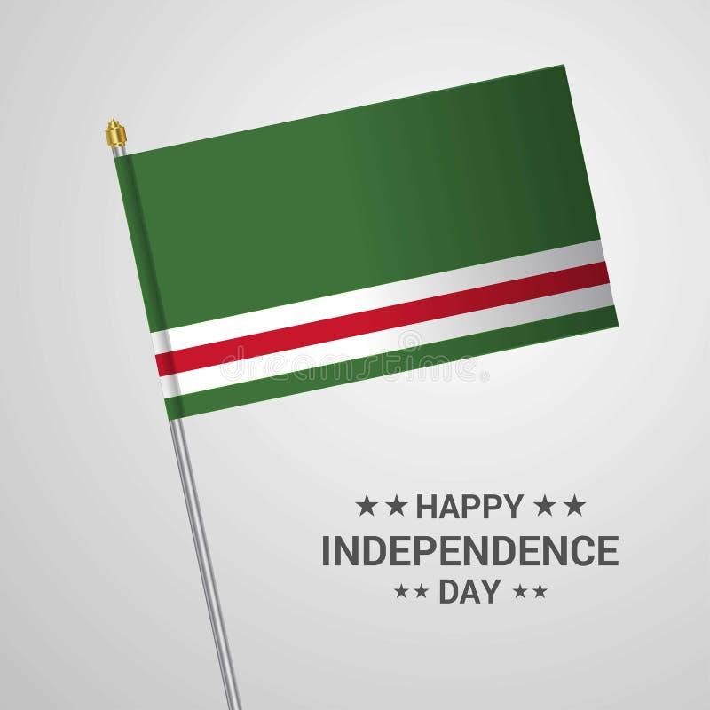 Τσετσένια Δημοκρατία του τυπογραφικού σχεδίου ημέρας της ανεξαρτησίας Lchkeria διανυσματική απεικόνιση