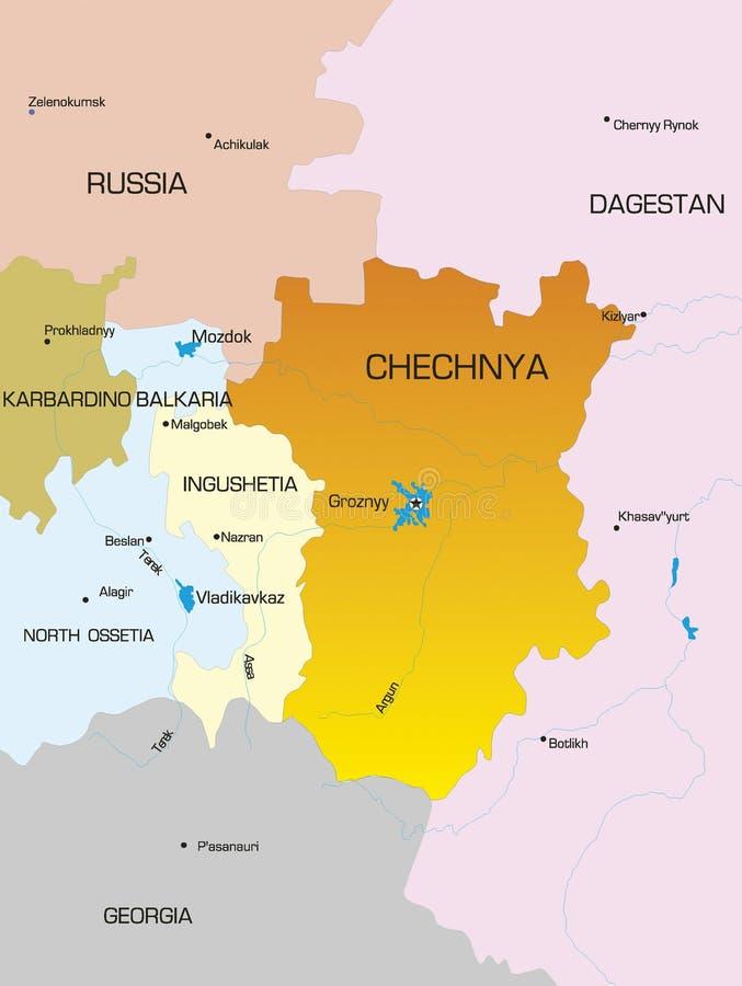 Τσετσένια χώρα Δημοκρατίας απεικόνιση αποθεμάτων