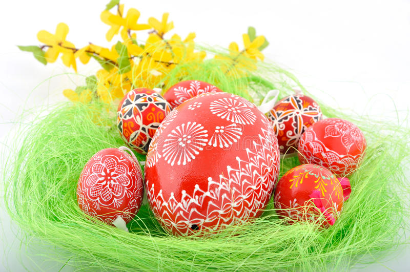 τσεχικά αυγά Πάσχας στοκ φωτογραφία με δικαίωμα ελεύθερης χρήσης