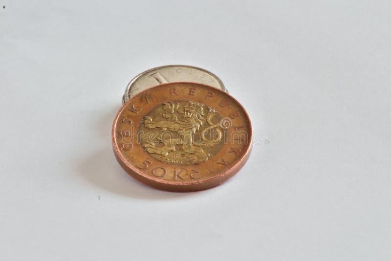 Τσεχικά νομίσματα, κορώνες στοκ εικόνες