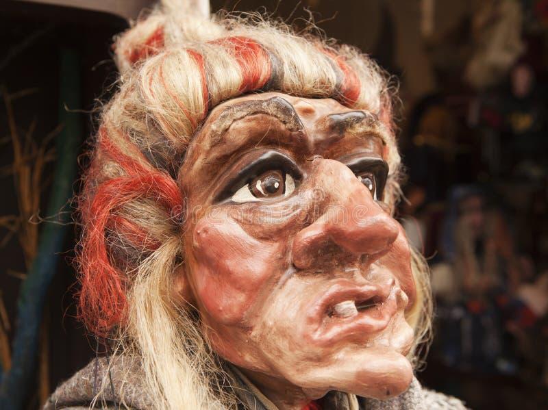 τσεχική μάγισσα μαριονετ στοκ φωτογραφία