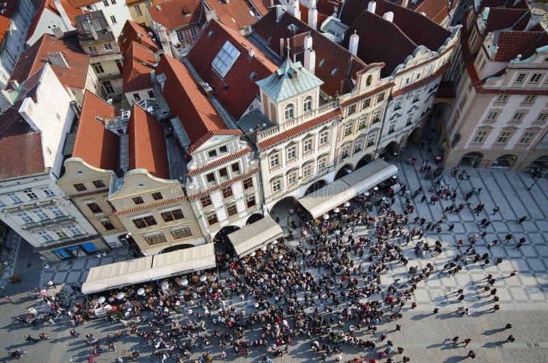 τσεχικό παλαιό τετράγωνο &d στοκ φωτογραφία