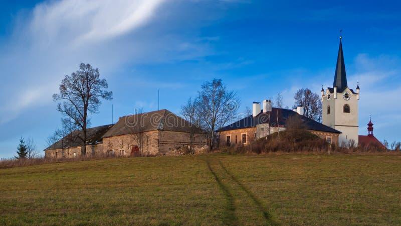 τσεχικό χωριό χωρών στοκ φωτογραφίες