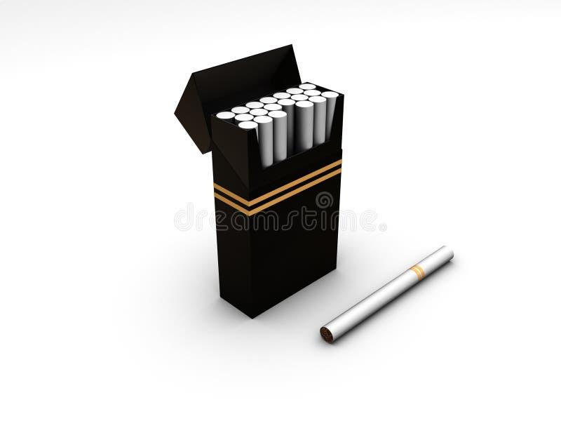 τσιγάρο κιβωτίων απεικόνιση αποθεμάτων