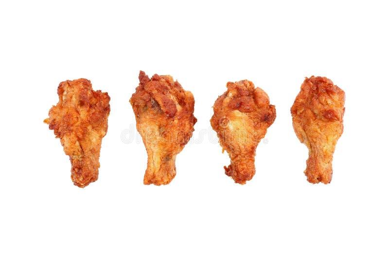τσιγαρισμένοι μηροί κοτόπουλου που απομονώνονται στο λευκό στοκ εικόνες με δικαίωμα ελεύθερης χρήσης