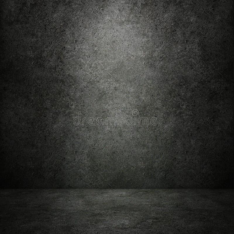 Τσιμεντένιοι σκοτεινοί τοίχος και πάτωμα στοκ εικόνες με δικαίωμα ελεύθερης χρήσης