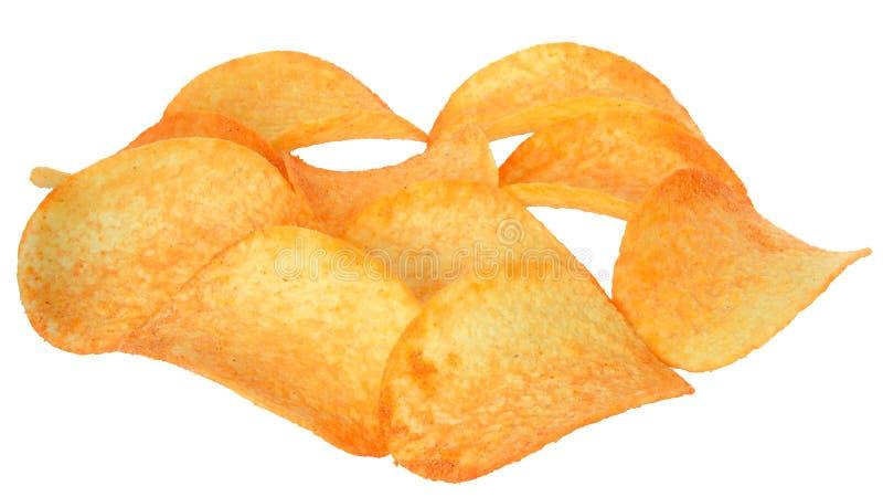 Τσιπ πατατών με τα καρυκεύματα στοκ εικόνες