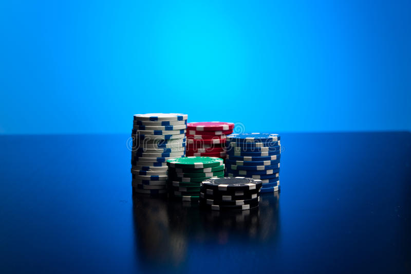 Τσιπ πόκερ στοκ εικόνες