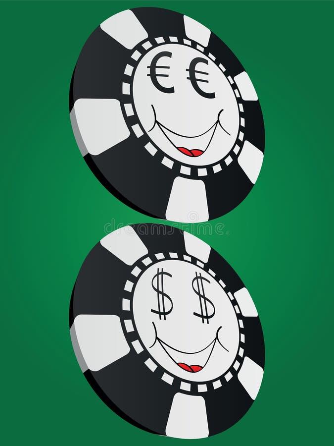 Τσιπ πόκερ διανυσματική απεικόνιση