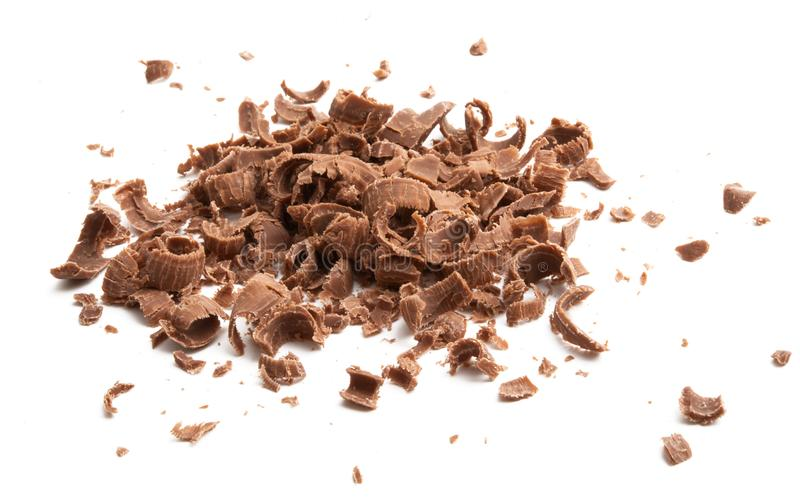 Τσιπ σοκολάτας που απομονώνονται στοκ εικόνα με δικαίωμα ελεύθερης χρήσης