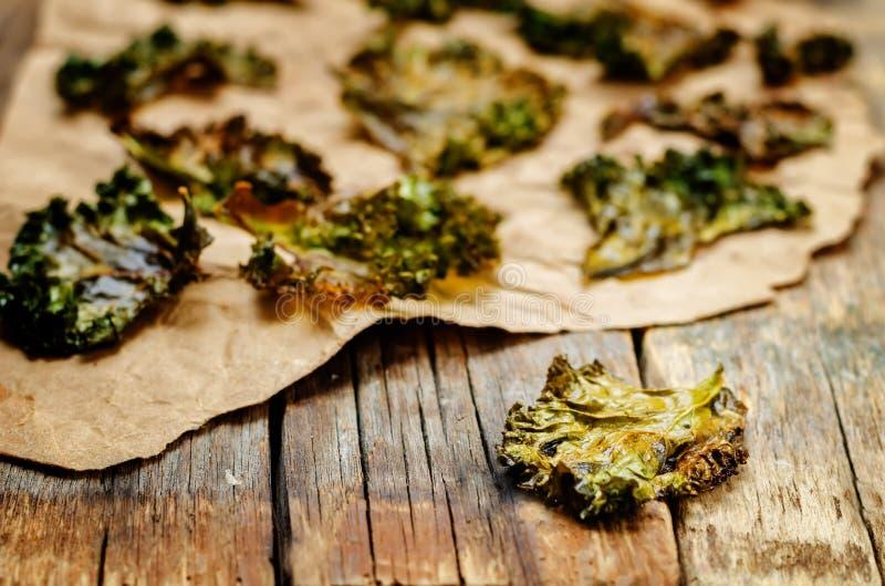 Τσιπ του Kale στοκ εικόνες