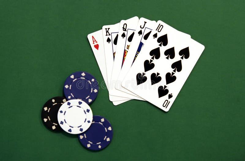 τσιπ χαρτοπαικτικών λεσ&chi στοκ εικόνα
