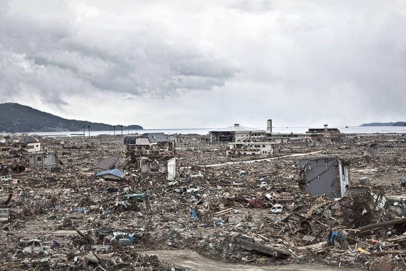 Τσουνάμι Ιαπωνία 2011 Φουκουσίμα στοκ φωτογραφίες