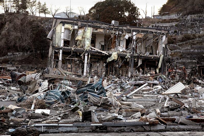 Τσουνάμι Ιαπωνία 2011 Φουκουσίμα στοκ φωτογραφία με δικαίωμα ελεύθερης χρήσης