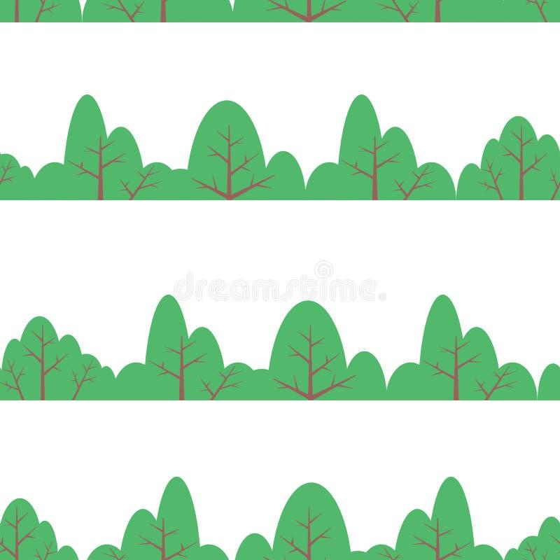 Τυλίγοντας σχέδιο φύλλων άνευ ραφής διανυσματικός τροπικός θάμνος φυτών φύλλων διανυσματική απεικόνιση