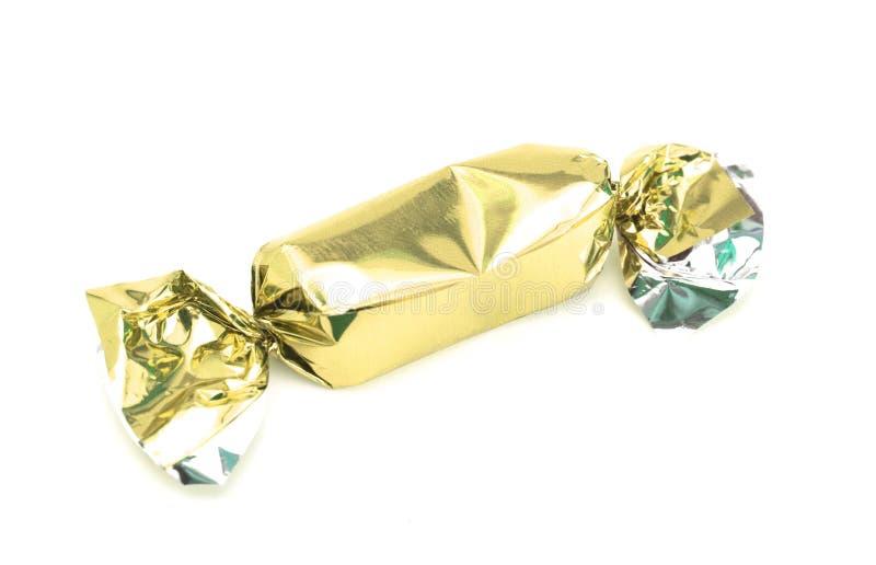 Τυλιγμένη χρυσός καραμέλα στοκ φωτογραφία