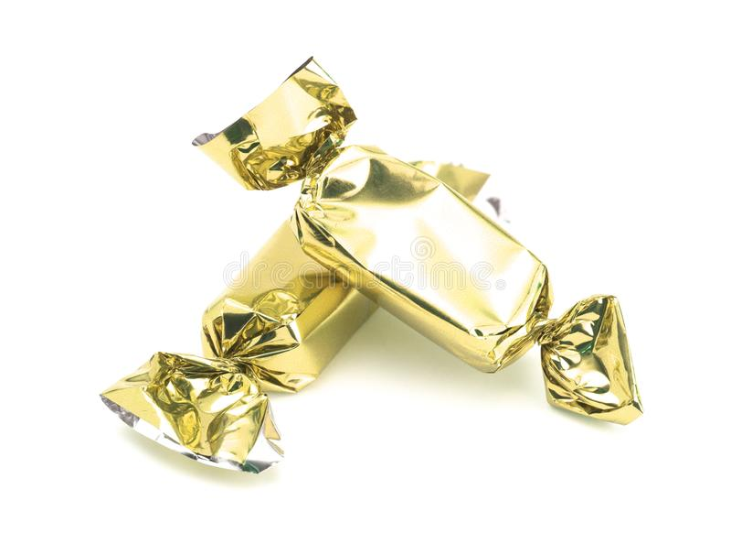 Τυλιγμένη χρυσός καραμέλα στοκ φωτογραφία με δικαίωμα ελεύθερης χρήσης
