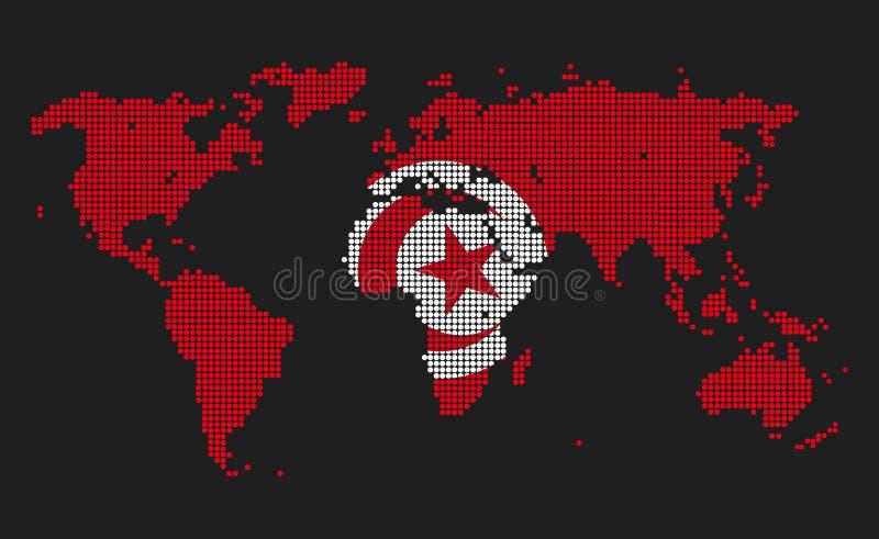 Τυνησία διανυσματική απεικόνιση