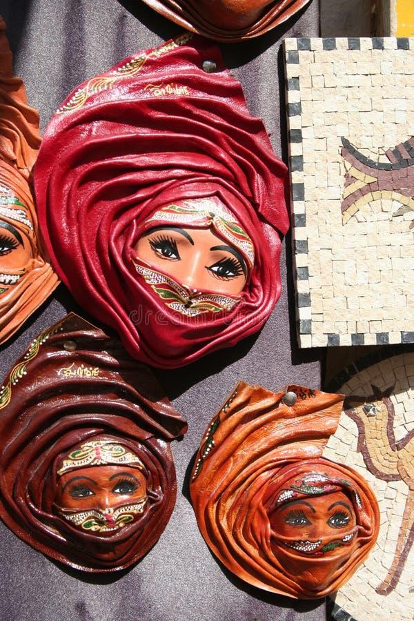 Τυνησιακά αναμνηστικά δέρματος στοκ φωτογραφίες