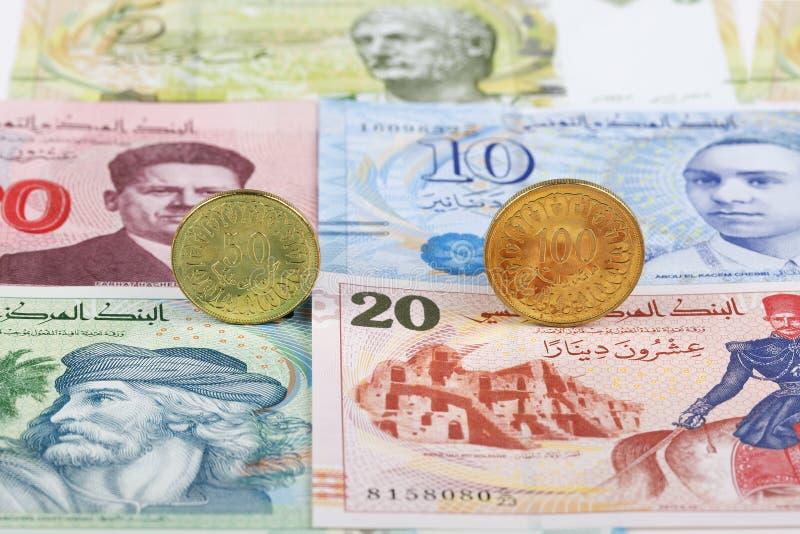 Τυνησιακά νομίσματα Δηναρίων στοκ εικόνες με δικαίωμα ελεύθερης χρήσης