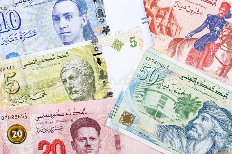 Τυνησιακά χρήματα, ένα υπόβαθρο στοκ εικόνα