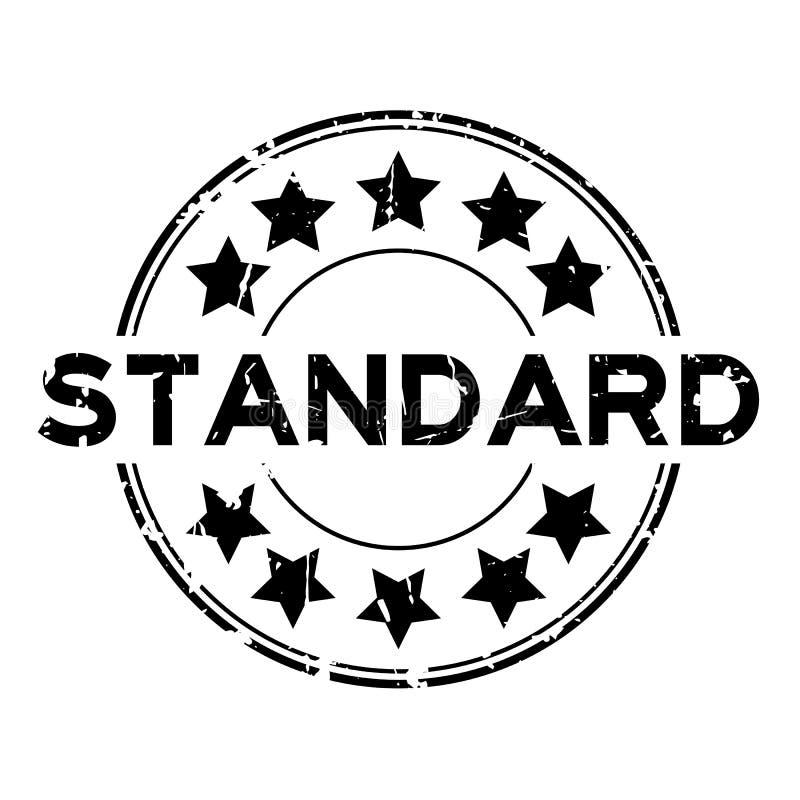 Τυπική διατύπωση Grunge black με σφραγίδα από καουτσούκ στρογγυλού εικονιδί απεικόνιση αποθεμάτων