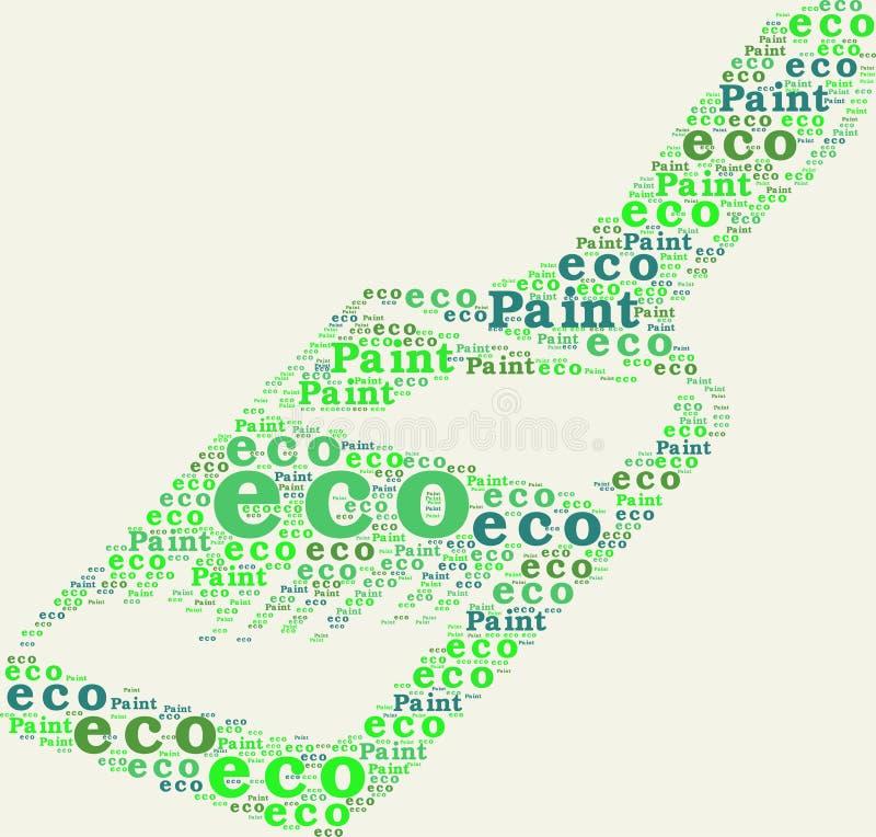Τυπογραφική βούρτσα χρωμάτων eco στοκ εικόνα