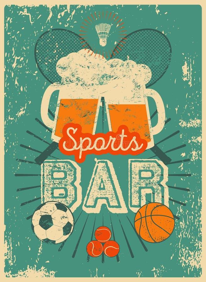 Τυπογραφική εκλεκτής ποιότητας αφίσα ύφους αθλητικών φραγμών grunge αναδρομικό διάνυσμα απεικόνισης διανυσματική απεικόνιση