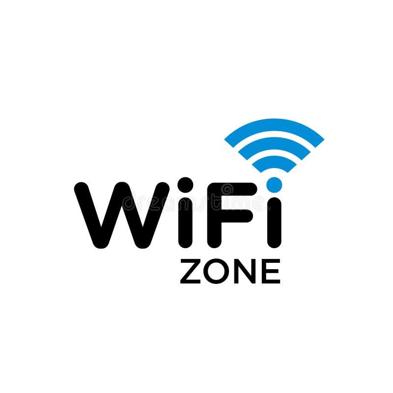 Τυπογραφικό σύμβολο της περιοχής WiFi Διαδίκτυο με το σήμα κυμάτων απεικόνιση αποθεμάτων
