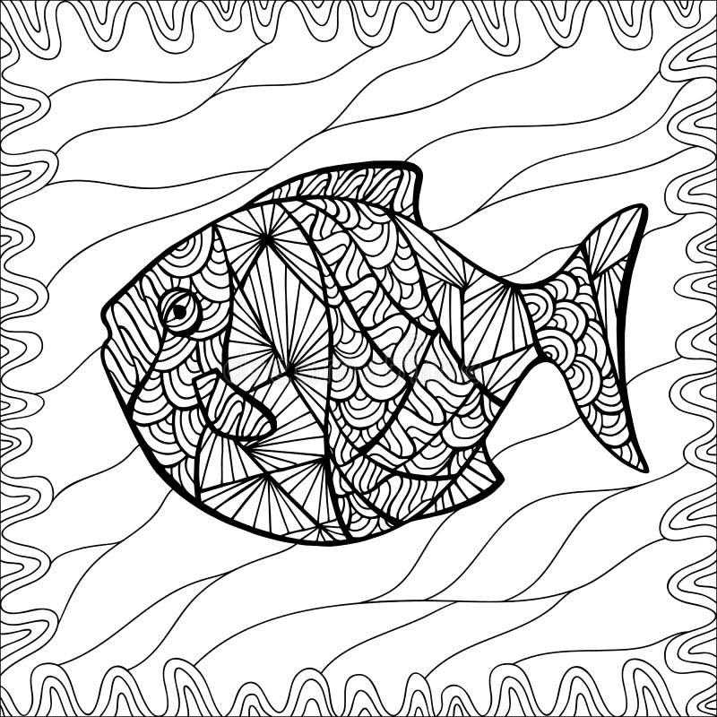Τυποποιημένα διανυσματικά ψάρια διανυσματική απεικόνιση