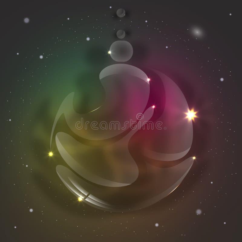 Τυποποιημένη όμορφη σφαίρα γυαλιού Χριστουγέννων ελεύθερη απεικόνιση δικαιώματος