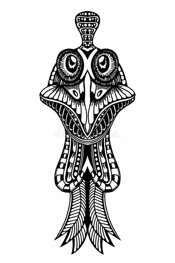Τυποποιημένος κόκκορας Zentangle διανυσματική απεικόνιση
