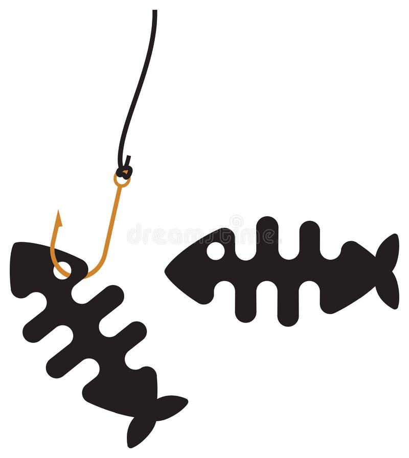 Τυποποιημένος σκελετός κόκκαλων ψαριών ελεύθερη απεικόνιση δικαιώματος