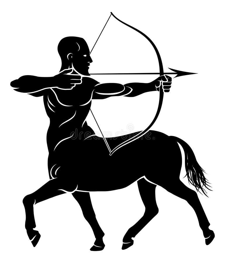 Τυποποιημένος τοξότης Centaur διανυσματική απεικόνιση