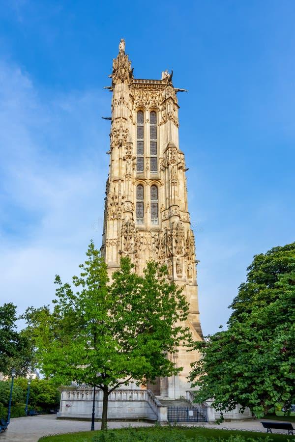 τυποποιημένος τρύγος πύργων Αγίου φωτογραφιών της Γαλλίας Ζακ Παρίσι στοκ εικόνα με δικαίωμα ελεύθερης χρήσης