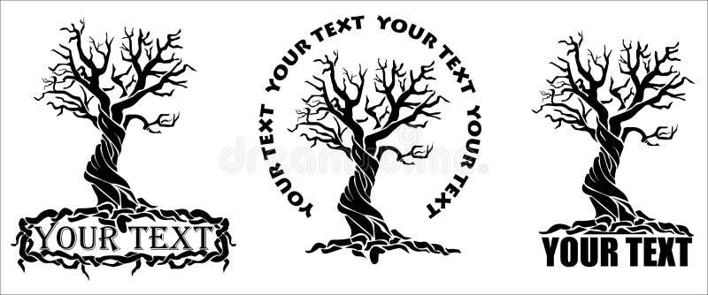 Τυποποιημένο δέντρο με το κείμενο διανυσματική απεικόνιση