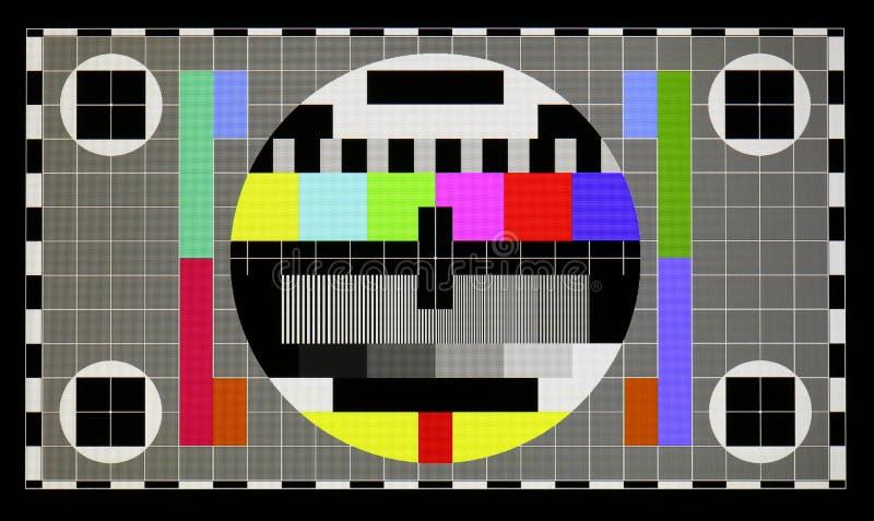 Τυποποιημένο βιομηχανικό σχέδιο δοκιμής έγχρωμης τηλεόρασης στο όνομα αριθ. ελεύθερη απεικόνιση δικαιώματος