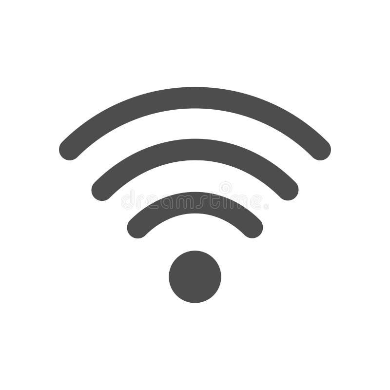Τυποποιημένο εικονίδιο wifi Διαδικτύου στο άσπρο υπόβαθρο ελεύθερη απεικόνιση δικαιώματος