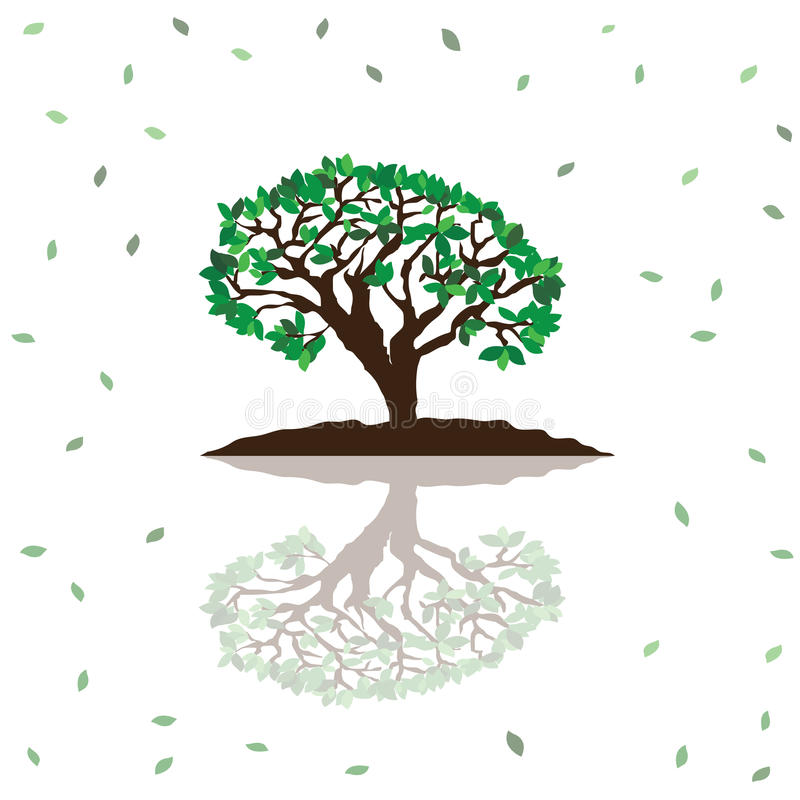 Τυποποιημένο διανυσματικό δέντρο ελεύθερη απεικόνιση δικαιώματος