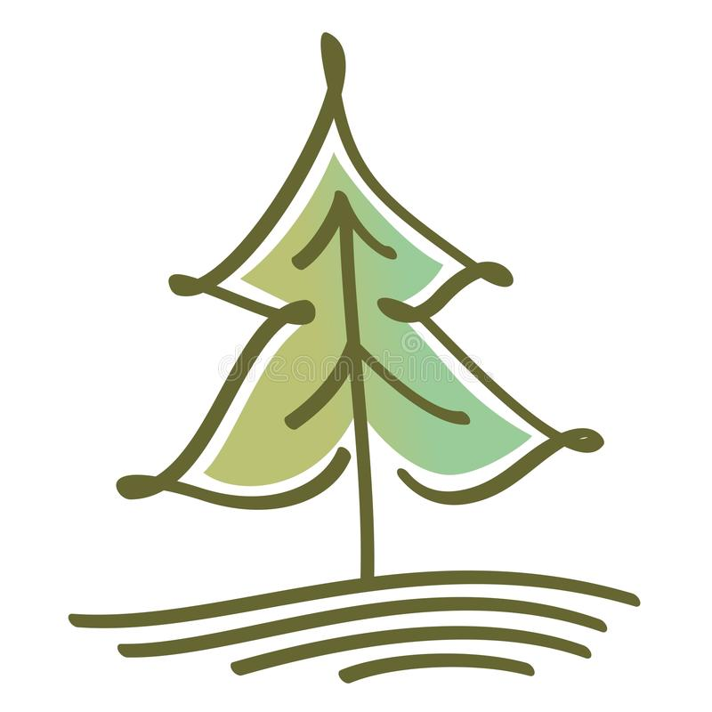 Τυποποιημένο διανυσματικό δέντρο διανυσματική απεικόνιση