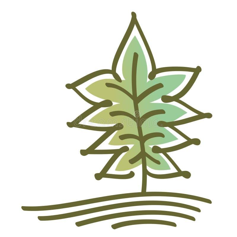 Τυποποιημένο διανυσματικό δέντρο απεικόνιση αποθεμάτων