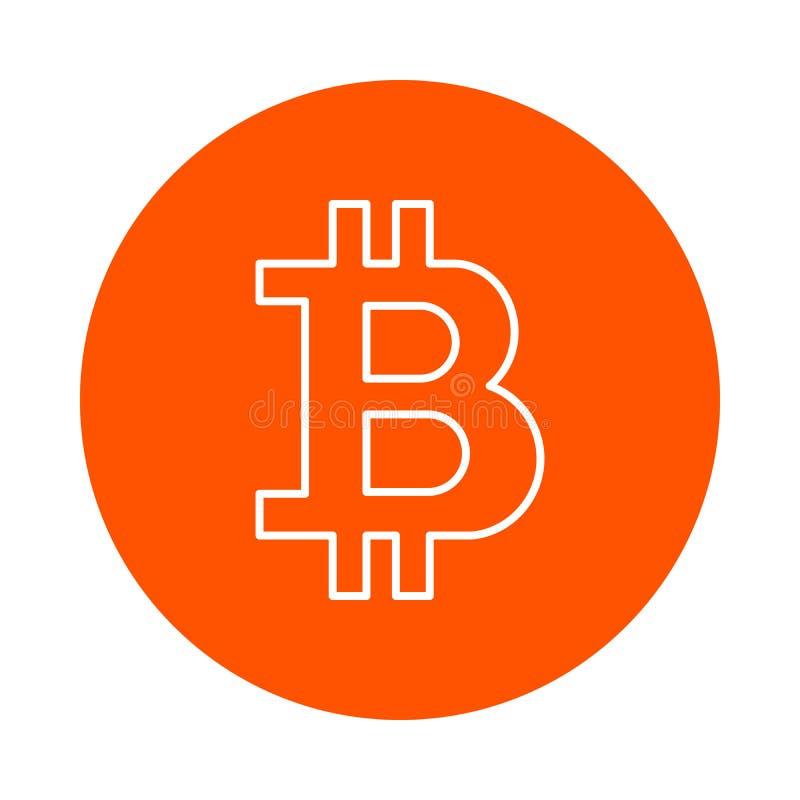 Τυποποιημένο σύμβολο crypto του νομίσματος bitcoin, μονοχρωματικό στρογγυλό εικονίδιο, επίπεδο ύφος στοκ φωτογραφία με δικαίωμα ελεύθερης χρήσης