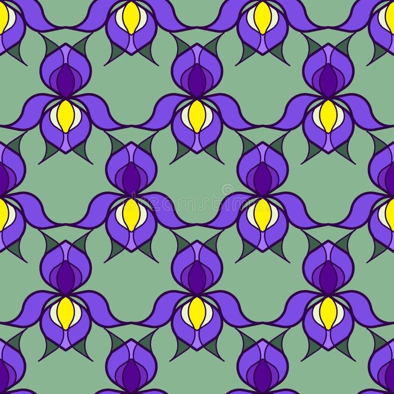 Τυποποιημένο υπόβαθρο της Iris στοκ εικόνα