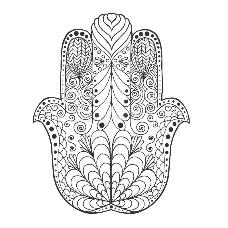 Τυποποιημένο mandala Zentangle διανυσματική απεικόνιση
