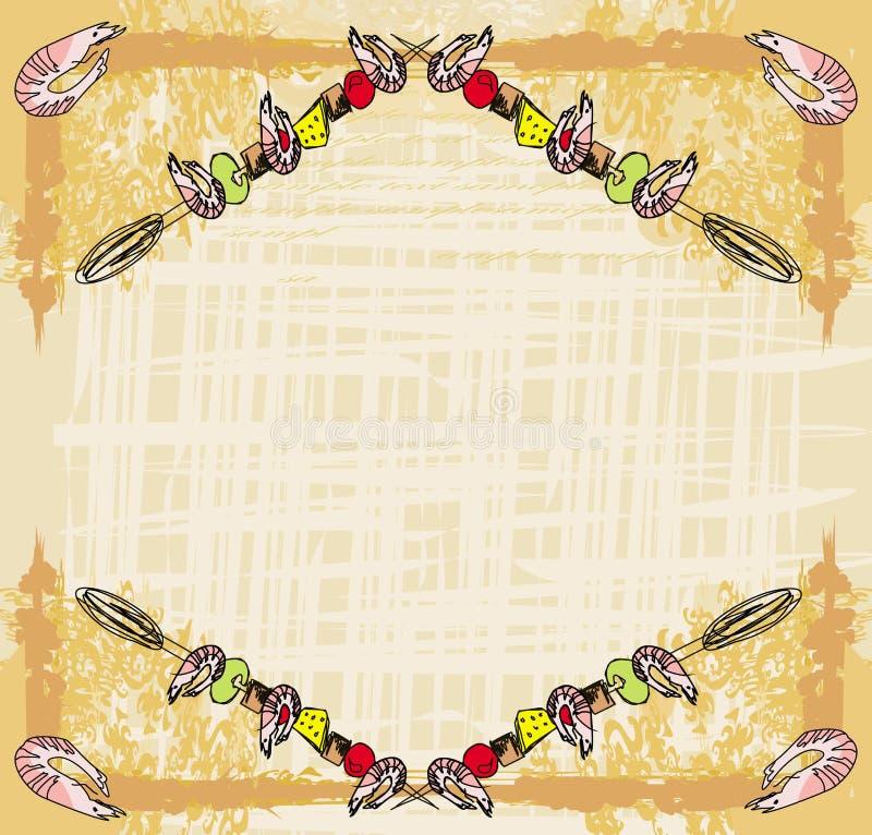 Τυποποιημένο yummy οβελίδιο γαρίδων απεικόνιση αποθεμάτων