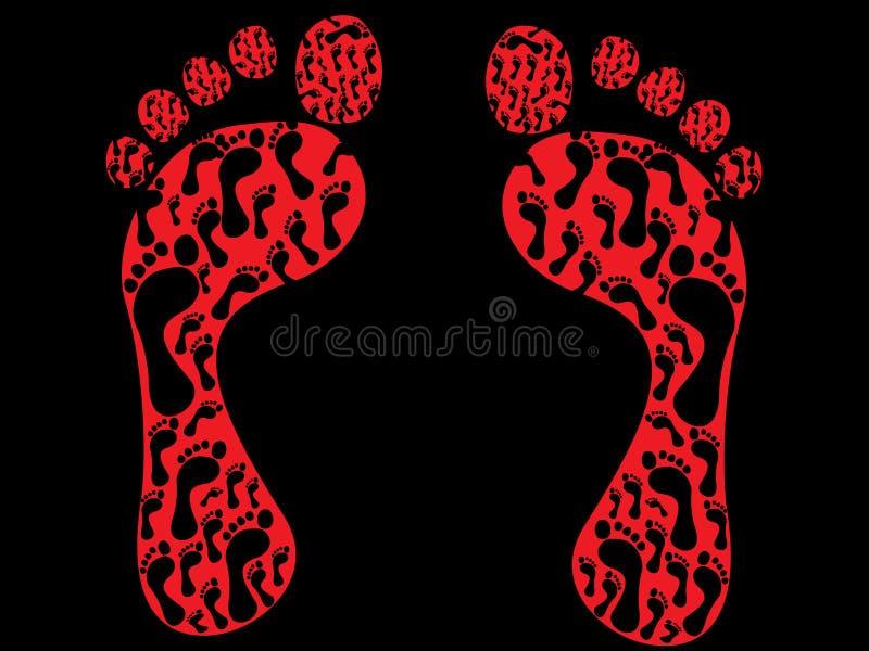 τυπωμένες ύλες ποδιών ελεύθερη απεικόνιση δικαιώματος