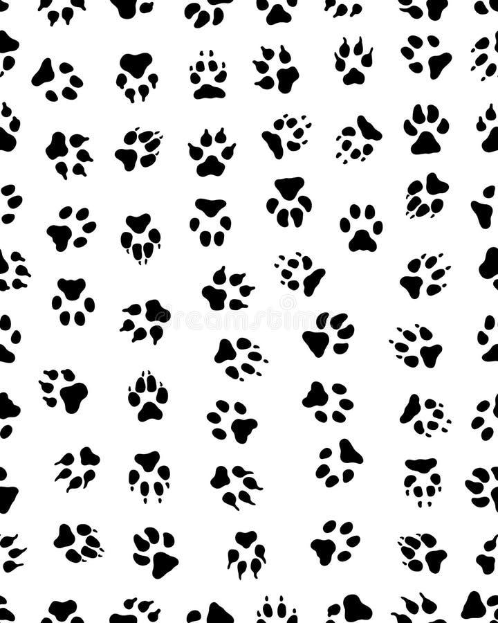 Τυπωμένες ύλες του ποδιού σκυλιών ελεύθερη απεικόνιση δικαιώματος