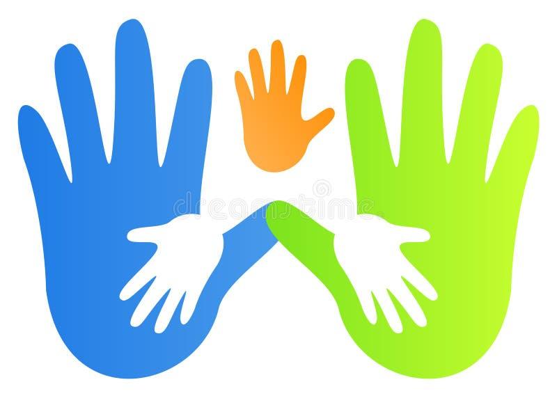 τυπωμένες ύλες χεριών ελεύθερη απεικόνιση δικαιώματος