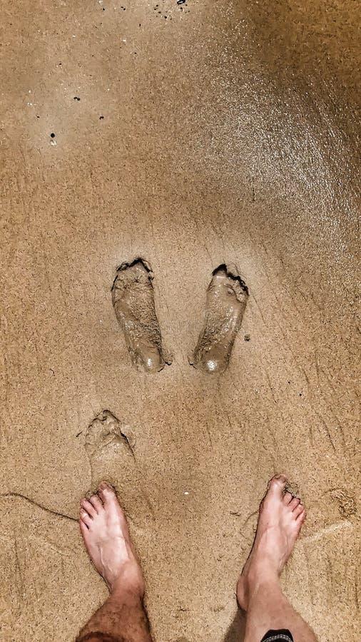 Τυπωμένες ύλες ποδιών στοκ φωτογραφία