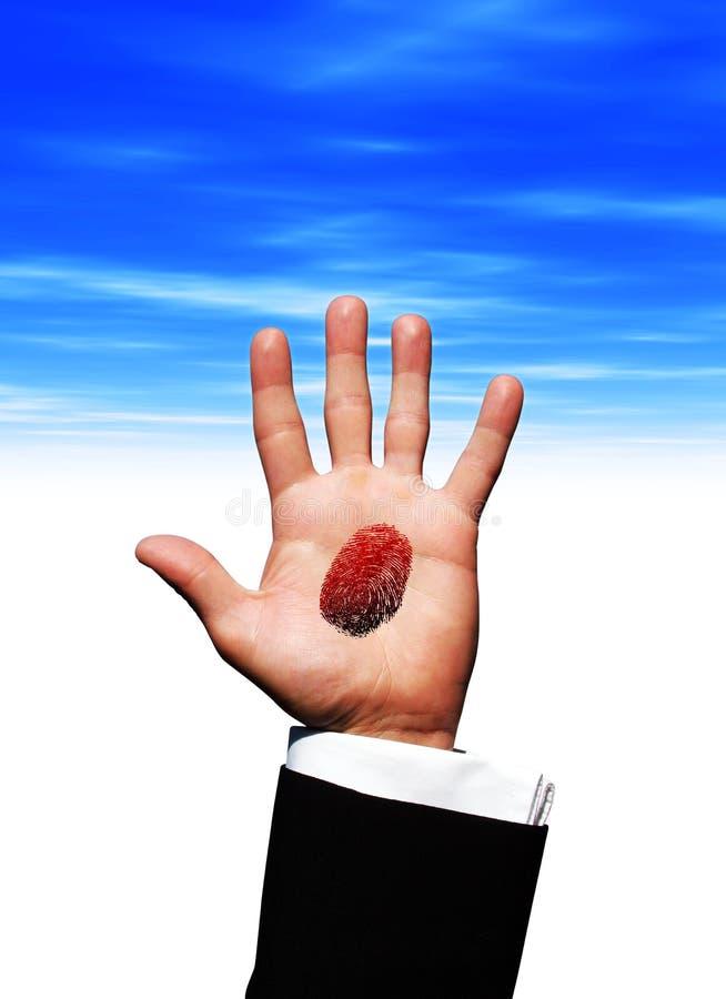 τυπωμένη ύλη παλαμών χεριών δά στοκ εικόνες με δικαίωμα ελεύθερης χρήσης